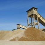 Extracția de nisip se materiale de râu