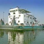 Corabia lui Han Omurtag in fluviul Dunarii